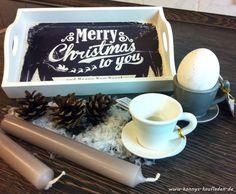 1Tablett MERRY CHRISTMAS +2 KERZENHALTER Eierbecher Tassen +2 Kerzen WEIHNACHTEN