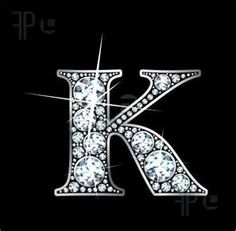 """Shop """"K"""" Faux-""""Diamond Bling"""" Sticker created by suwanneeredhead. Personalize it with photos & text or purchase as is! Letters And Numbers, Fancy Letters, Alphabet Letters, Free Illustrations, Logo Nasa, Artwork Prints, Initials, Give It To Me, Clip Art"""
