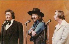 Johnny Cash, Waylon and George Jones.