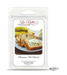Banana Nut Bread Scented Jewel Tart - La Bella Baskets Signature Scented Jewelry Tart Melts - Our Banana Nut Bread Jewelry Tart Melt - There's nothing better than the scent of freshly baked Banana Nut Bread straight from the oven! Sweet mashed bananas, and earthy walnuts sit on a base of sugar, and buttery cake. - Choose from a Ring, Necklace, Pendant, Bracelet or a pair of Earrings. #WarmerMelts #SoyWax #Jewelry #CandleLovers