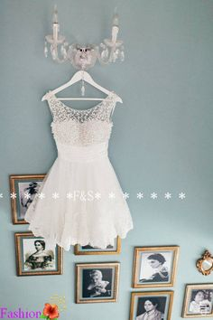White Lace Prom Dress Short White Lace by FashionStreets on Etsy, $169.00