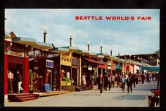 1962 Boulevards of World Seattle's World's Fair Exposition Stamp Cancel Postcard
