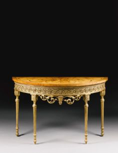 A George III fruitwood, tulipwood, marquetry and giltwood pier tablecirca 1772, by Thomas Chippendale