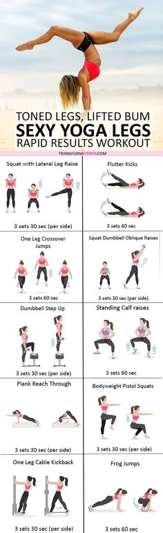 #womensworkout #workout #femalefitness Repin and share if this workout gave you sexy yoga legs! Click the pin for the full workout.