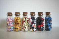 Mini Origami Stars in Tiny Glass Jars (Set of 2)