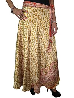 Two Layer Vintage Sari Magi Wrap Skirt Beige Beach Wear Reversible Dress Mogul Interior http://www.amazon.com/dp/B00O301C14/ref=cm_sw_r_pi_dp_fM.kub0NWSSS9