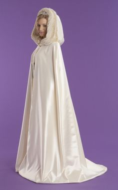 A Viking theme is perfect for winter- and perfect for a fur-lined white cloak. Oh, the luxury!