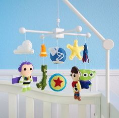 Toy Story Baby Mobile Baby Crib Mobile Woody by dropsofcolorshop