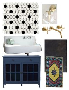"""Basement Jack-n-Jill bathroom"" by blessed-cre8ivity on Polyvore featuring interior, interiors, interior design, home, home decor, interior decorating, Threshold, Merola, WALL and Kohler"