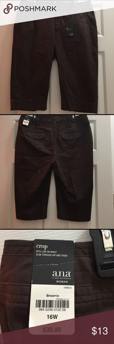 Ana Brown Crop Pants Size 16W NWT just in time for spring and summer. Ana Pants Ankle & Cropped