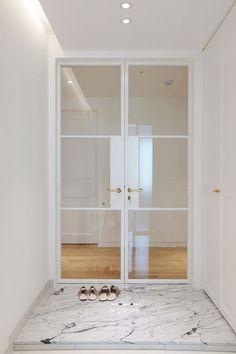 Door modern classic living rooms 18 Ideas for 2019 Door Design, House Design, Classic Living Room, House Entrance, Interior Barn Doors, Apartment Interior, Modern Interior Design, Modern Classic, Windows And Doors