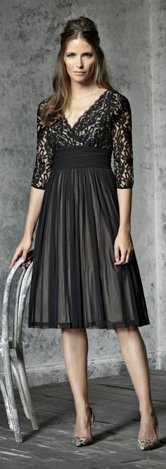 Tea length dress for mother of the bride or groom for evening - click to read more