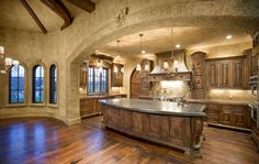 Love it. The floor is pretty, but I'd rather have tile/stone.   Old World Tuscan