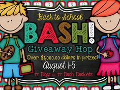 Mrs Jump's class: Back to School BASH! Giveaway Hop