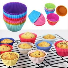 CSS 12 pcs Silicone Cake Cupcake Liner Baking Cup Mold Muffin Round Cup Cake Tool Bakeware Baking Pastry Tools Kitchen #>=#>=#>=#>=#> Click on the pin to check out discount price, color, size, shipping, etc. Save and like it!