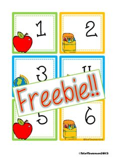 """This is a set of BACK to SCHOOL calendar cards numbers 1-31! Also included are blank cards to be used for year cards! These cards are set up in an """"ABCC Pattern"""" rotation!Here are some other SUMMER/SPRING packets I have in my store!Daily Math and Literacy Back to School {August and September} Common CoreWriting/Reading Comprehension {All about LADYBUGS}Writing/Reading Comprehension {All about BUTTERFLIES}Daily Math and Literacy Spring {April} Common CoreDaily Math and Literacy {May} Common…"""