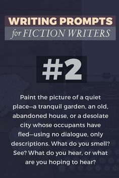 Need some Pin-spiration?! Try this writing prompt for fiction writers. Hint: click through to see two more prompts!