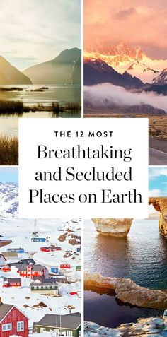 The 12 Most Breathtaking and Secluded Places on Earth via @PureWow
