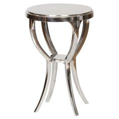 Check out this item at One Kings Lane! Bradley Accent Table, Silver