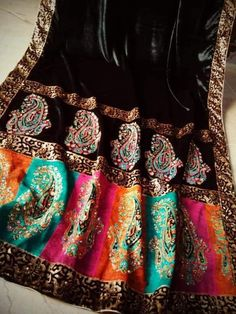 four sided lace appliqué ready to wear. Top of the line Imported velvet pure micro 9000 Velvet Pakistani Dress, Simple Kurta Designs, Velvet Dress Designs, Velvet Shawl, Fancy Dress Design, Kurti Embroidery Design, Next Clothes, Velvet Fashion, Pakistani Outfits