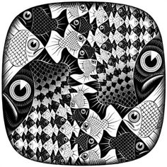 Fishes and Scales - M.C. Escher, 1959