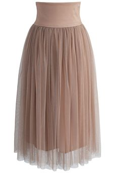 Ethereal Tale Tulle Skirt in Caramel - New Arrivals - Retro, Indie and Unique Fashion