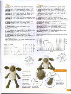 Free Pattern For A Sweet Crochet Sheep - Amigurumi - Webcrochet.Com De - Diy Crafts Crochet Sheep, Crochet Teddy Bear Pattern, Easter Crochet, Crochet Patterns Amigurumi, Crochet Dolls, Crochet Scarf Diagram, Diy Crafts How To Make, Cute Sheep, Free Pattern