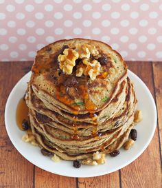 Zucchini Bread Pancakes. Healthy Fluffy Vegetable-Packed and Delicious.