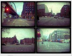 Hamburg - Crossroads at the morning  - Lomo - Toycam - Analog Camera - Boxkamera - Street Photography