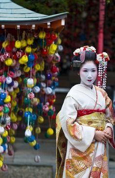 Geisha at a  Kyoto festival, Japan. #geishagirls