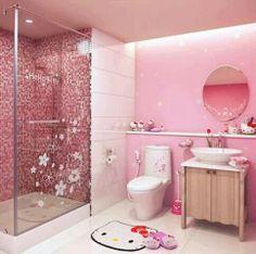 hello kitty - après la maison de Barbie, voici la salle de bains d'Hello Kitty