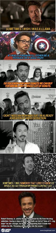 Robert Downey Jr!! Oh I love this man. In a completely appropriate way of course.