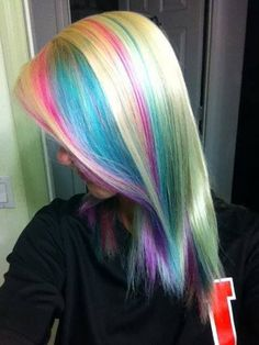 blonde hair with pastel highlights - Google Search