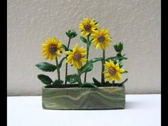 Miniature Sunflower Tutorial