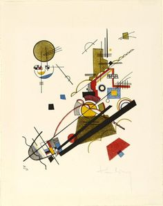 Vasilij Kandinskij - Joyous Ascent, 1923. Lithograph
