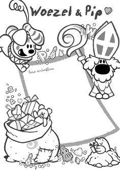 Kleurplaten Pipo De Clown.37 Fantastische Afbeeldingen Over Kleurplaten Woezel En Pip