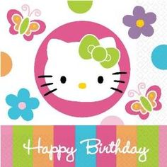 We sell Hello Kitty birthday party supplies including Hard To Find and vintage decorations, tableware, party favors and so much more! You will be amazed at our dynamic selection of Rare and Discontinued Party Supplies for children and adults! Happy Birthday Babe, Hello Kitty Birthday, Happy Birthday Quotes, Cat Birthday, Birthday Greetings, Birthday Cards, Birthday Memes, Birthday Design, Birthday Ideas