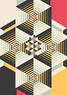 La Plus Art Print by Danny Ivan | Society6. Geomteric