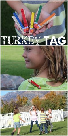 DIY Turkey Tag Craft and Game // Let's Get Together - #thanksgivingfun