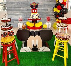 Mickey Mouse Backdrop, Mickey Mouse Birthday Decorations, Mickey 1st Birthdays, Mickey Mouse Parties, Mickey Party, Mickey Mouse Table, Disney Parties, Mickey Mouse First Birthday, Mickey Mouse Baby Shower