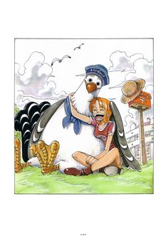 One Piece Color Spread : Chapter 49 - Cute Nami with Marine Bird