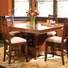 Less Is More With The 52nd Street 5 Piece Counter Height Dining Set.  Crafted With Simple Lines And Covered From Top To Bottom With A Rich Cherry  Fiu2026