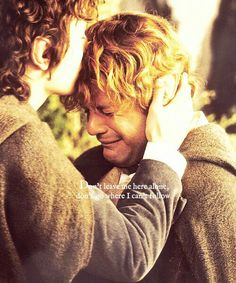 """Don't leave me here alone. Don't go where I can't follow."" 