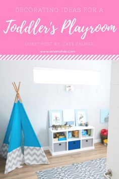 7 decorating tips for a fun and organized toddler playroom. Home decor and DIY projects to make your toddler's playroom beautiful and functional. Playroom Organization, Playroom Decor, Organized Playroom, Playroom Ideas, Playroom Design, Basement Ideas, Nursery Ideas, Organization Ideas, Kids Bedroom