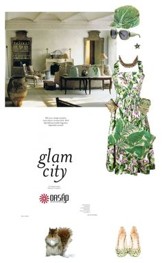 """""""Glam in green"""" by pensivepeacock ❤ liked on Polyvore featuring Balenciaga, Jerome C. Rousseau, Jean Patou, Stella & Dot, Christian Lacroix and Chanel"""