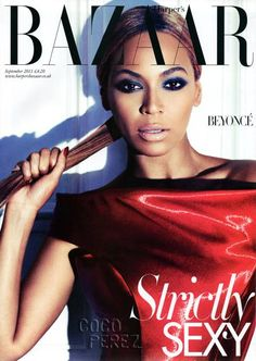Beyonce on the cover of Harpers Bazaar magazine