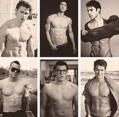The Men of Glee (from top left): Chord Overstreet, Harry Shum Jr., Darren Criss, Mark Salling, Cory Monteith & Matthew Morrison❤️❤️❤️