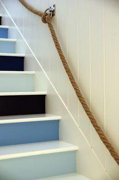 blue runners and rope.   Magic Eye Design.