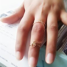 b0fa0a93f Beautiful Double Ring Multi-finger Ring Ring Finger, Rings Online, Fashion  Rings,