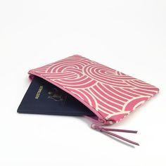 Purse organiser Travel clutch wallet Zipper clutch by NoLongerBlue